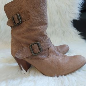 Steve Madden Leather Festival Slouched Bootie